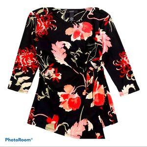 NWT ALFANI Women's Floral Print Blouse Size P/XL
